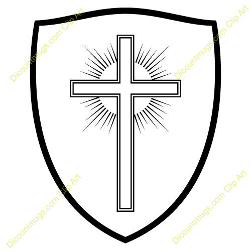 Clipart 11389 Sun Cross Shield   Sun Cross Shield Mugs T Shirts