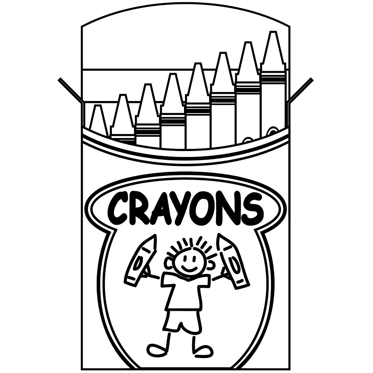 Black Crayon Clipart - Clipart Kid