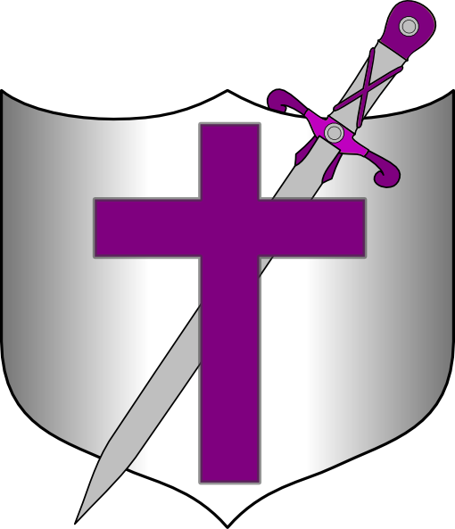 Cross Sword And Shield Clip Art At Clker Com   Vector Clip Art Online