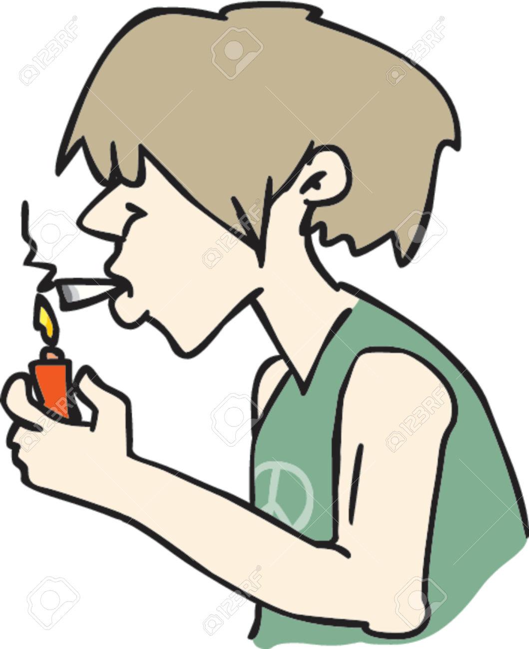 Smoking weed clip art