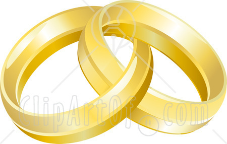 Today    11891 Two Entwined Golden Wedding Rings Clipart Picture