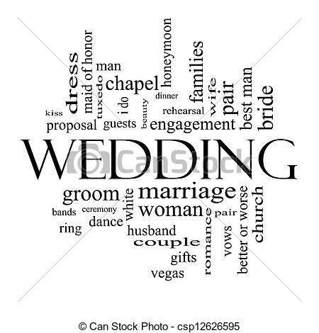 Wedding Word    Csp12626595   Search Vector Clipart Drawings