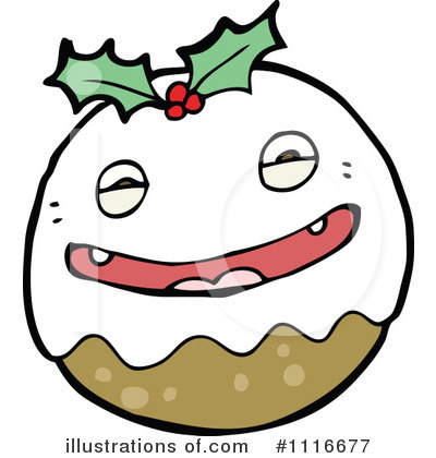 Christmas Pudding Clipart  1116677 By Lineartestpilot   Royalty Free
