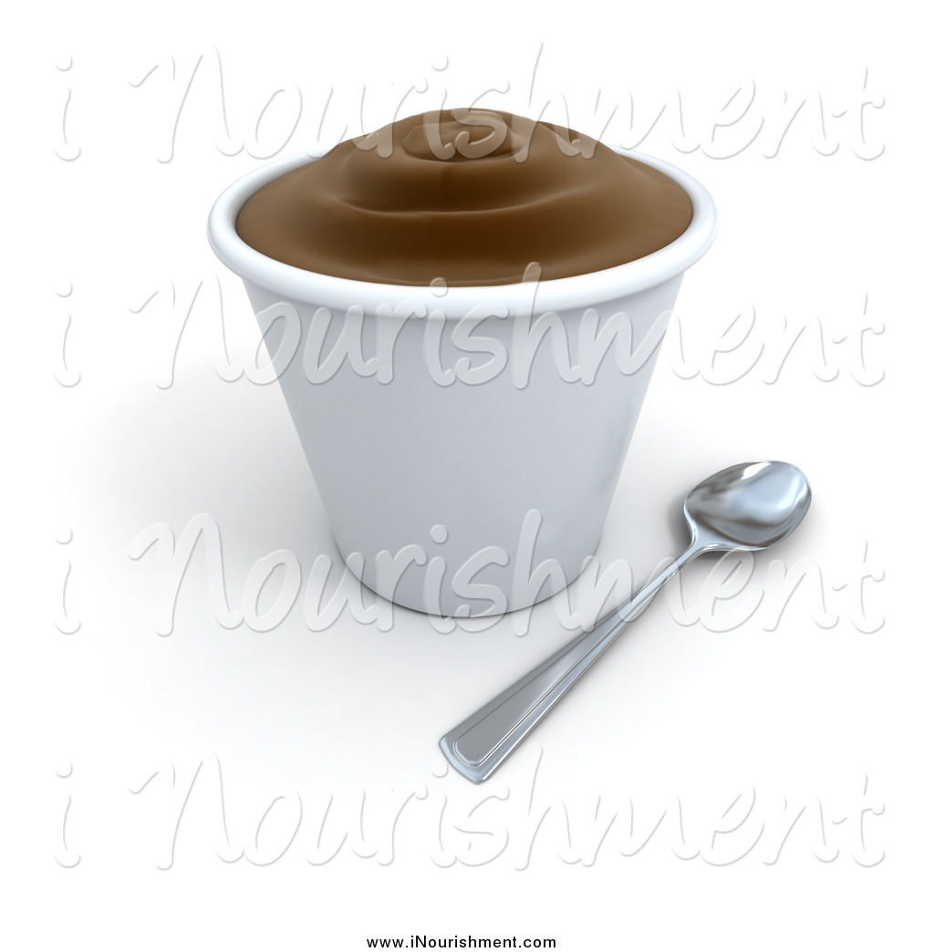 Clipart Of A 3d Cup Of Chocolate Pudding Or Frozen Yogurt By Frank