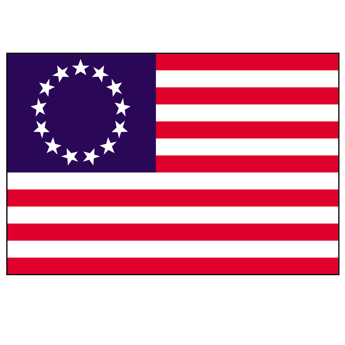 Colonial Flag   Betsy Ross Flag   A Revolutionary War Flag