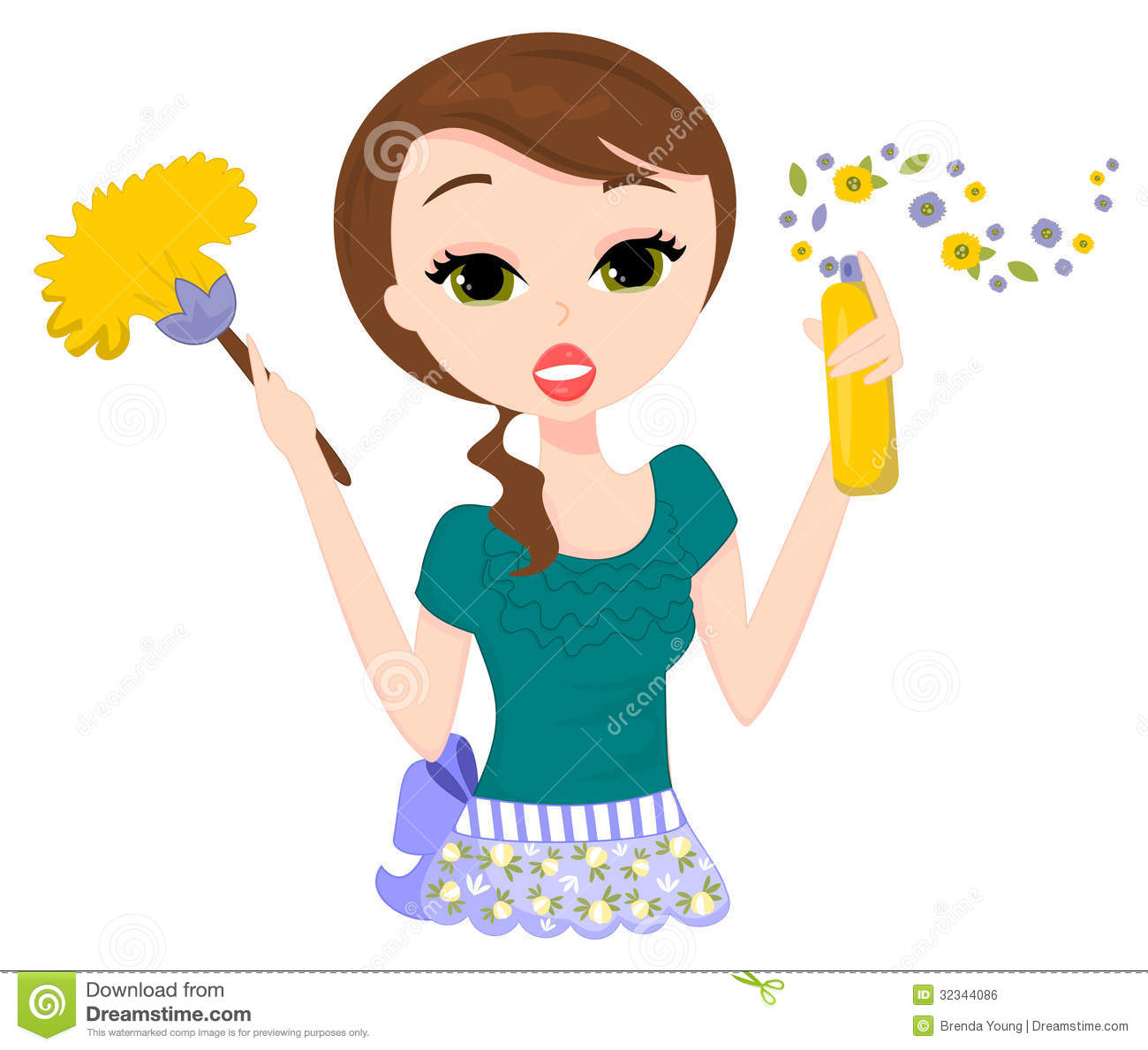Clip Art Cleaning Lady Clipart cleaning lady clipart kid dusting and spray dusting
