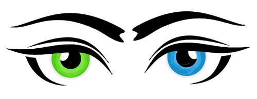 Eyebrow Clipart 0580 Green Blue Eye Logo Vector Clipart Jpg