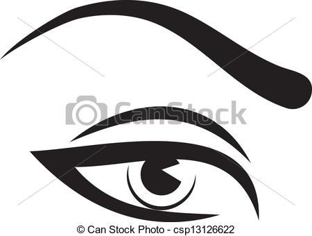 Eyebrow Clipart Can Stock Photo Csp13126622 Jpg