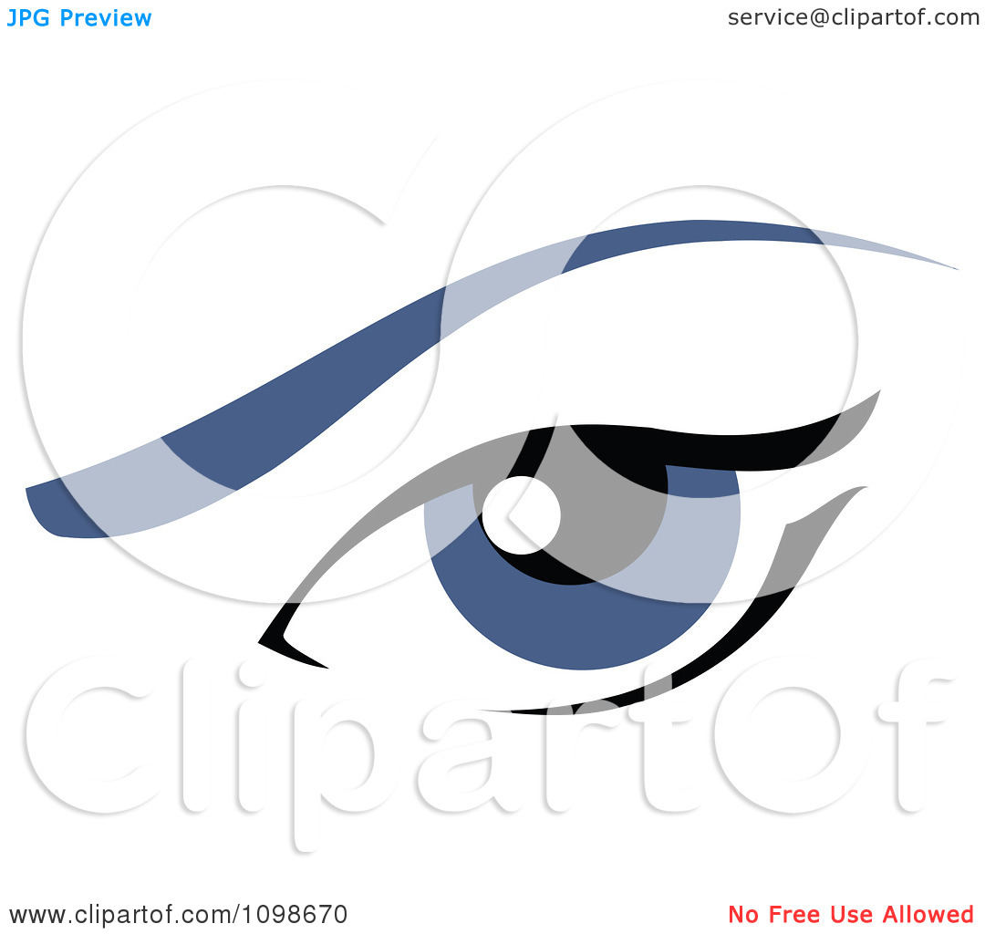 Eyebrow Clipart Clipart Blue Feminine Eye With An Eyebrow Royalty Free
