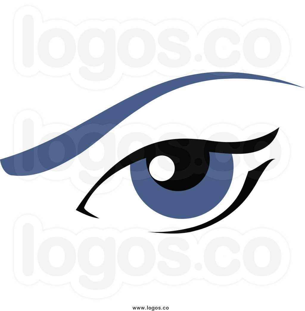 Eyebrow Clipart Royalty Free Clip Art Vector Logo Of A Blue Female Eye