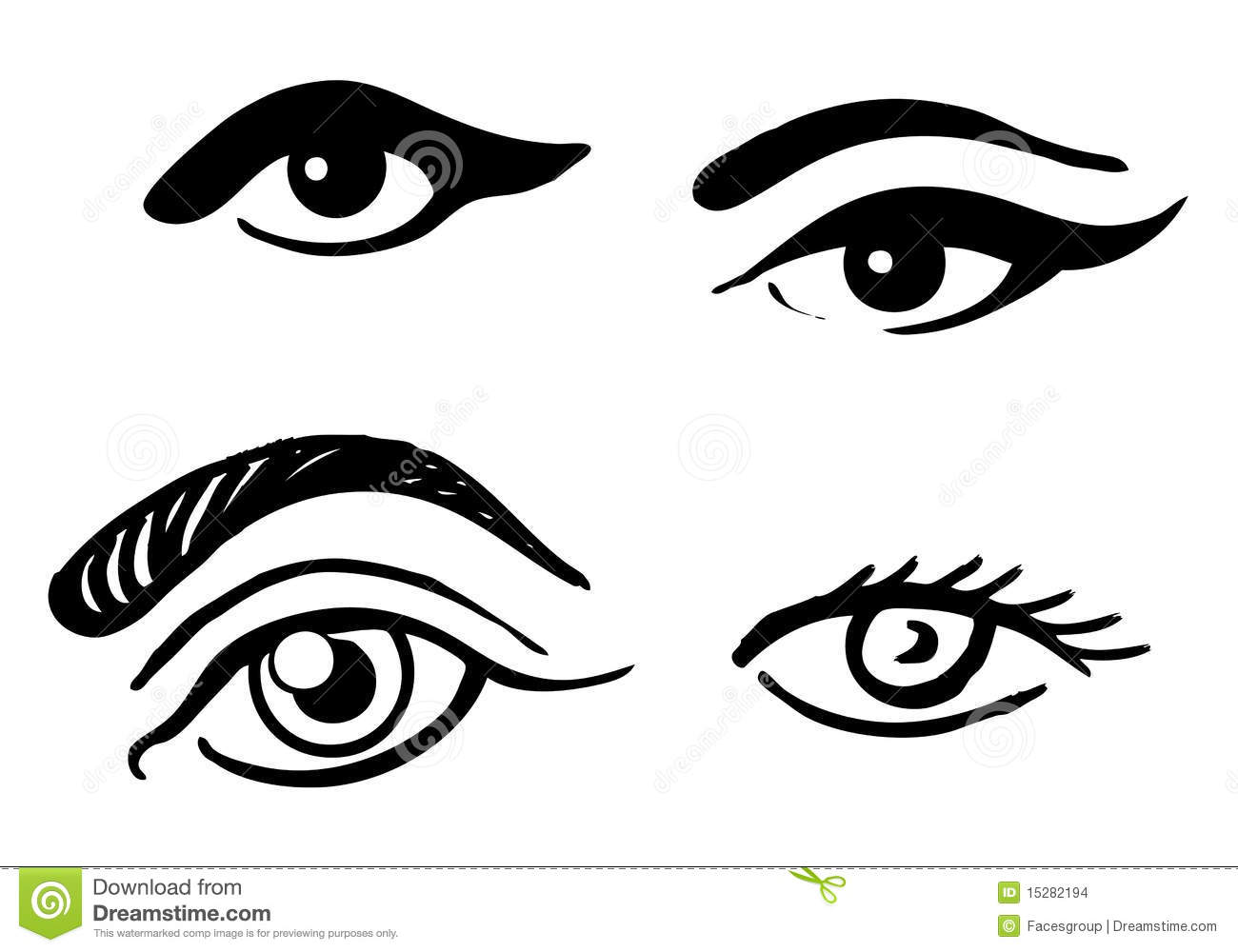 Eyebrow Clipart Set Different Eyes 15282194 Jpg