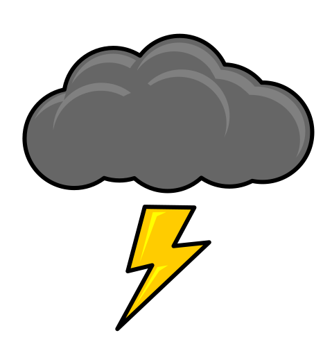 Free Simple Thunder Cloud Clip Art