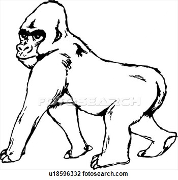 Gorilla Clipart   Clipart Panda   Free Clipart Images