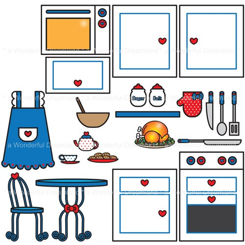 Kitchen Design Clip Art: Kitchen Design Clipart