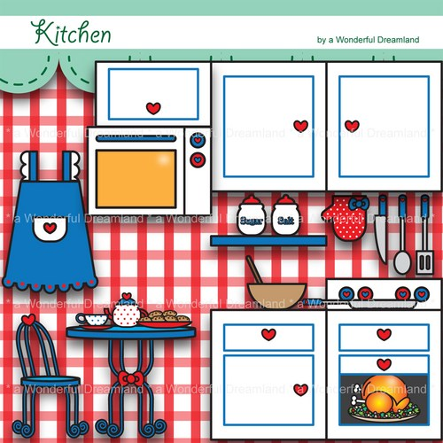 Kitchen Clip Art Printable Digital Clipart