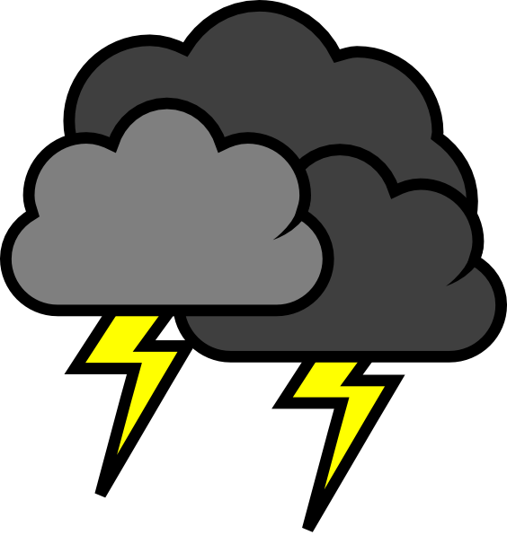 Lightening Clouds Clip Art At Clker Com   Vector Clip Art Online