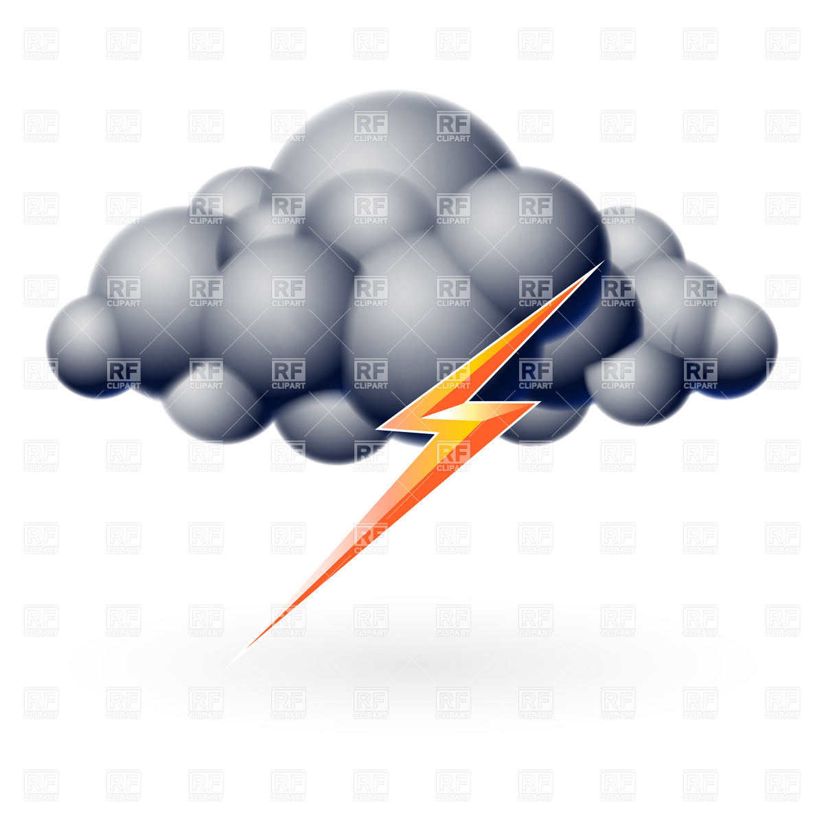 Lightning   Thunder Icon Download Royalty Free Vector Clipart  Eps