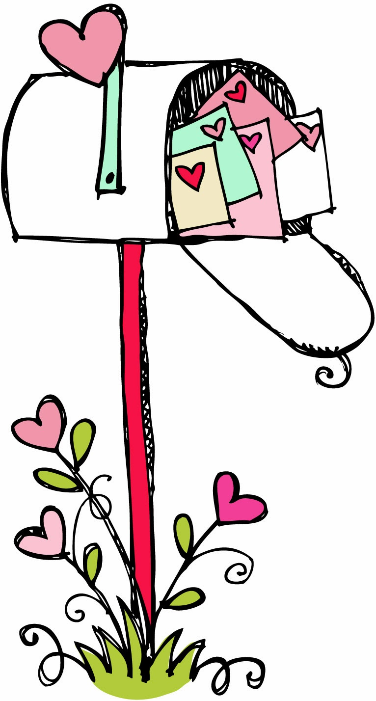 Mailbox Clipart Black And White Happy Valentines Day