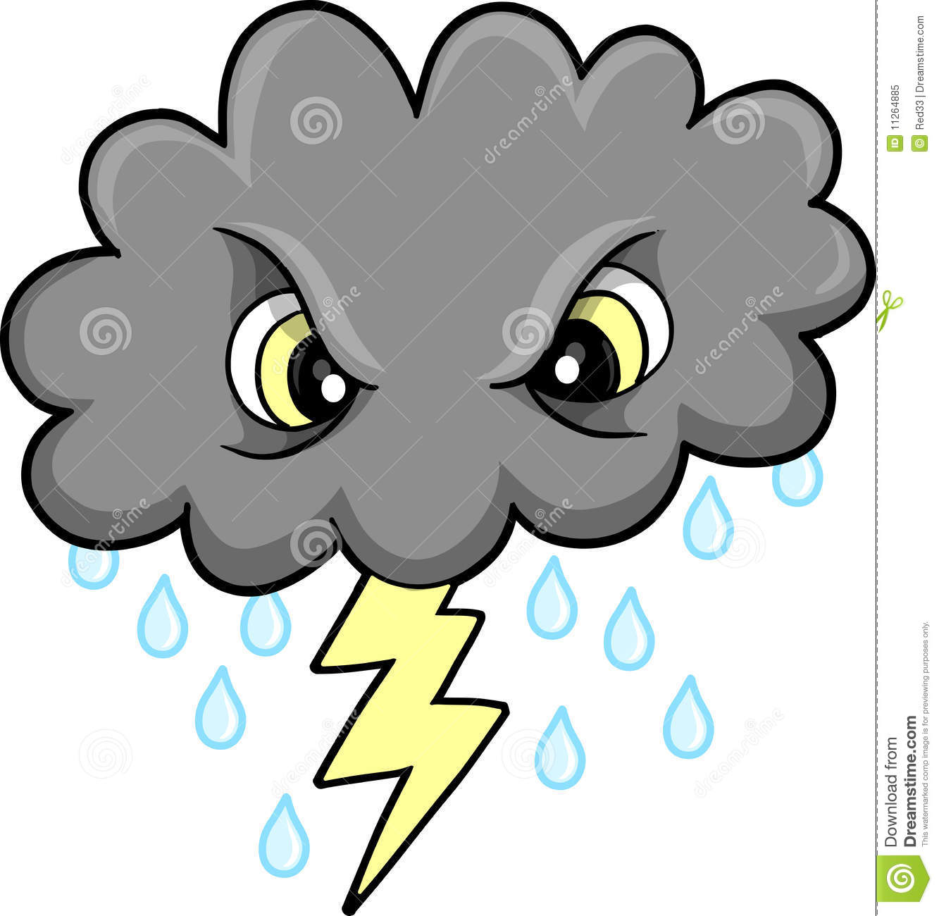Mean Thunder Cloud Vector Royalty Free Stock Photo   Image  11264885