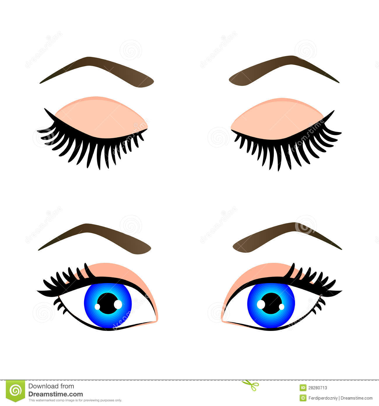 Raised Eyebrow Clipart And Eyebrow Stock Photos