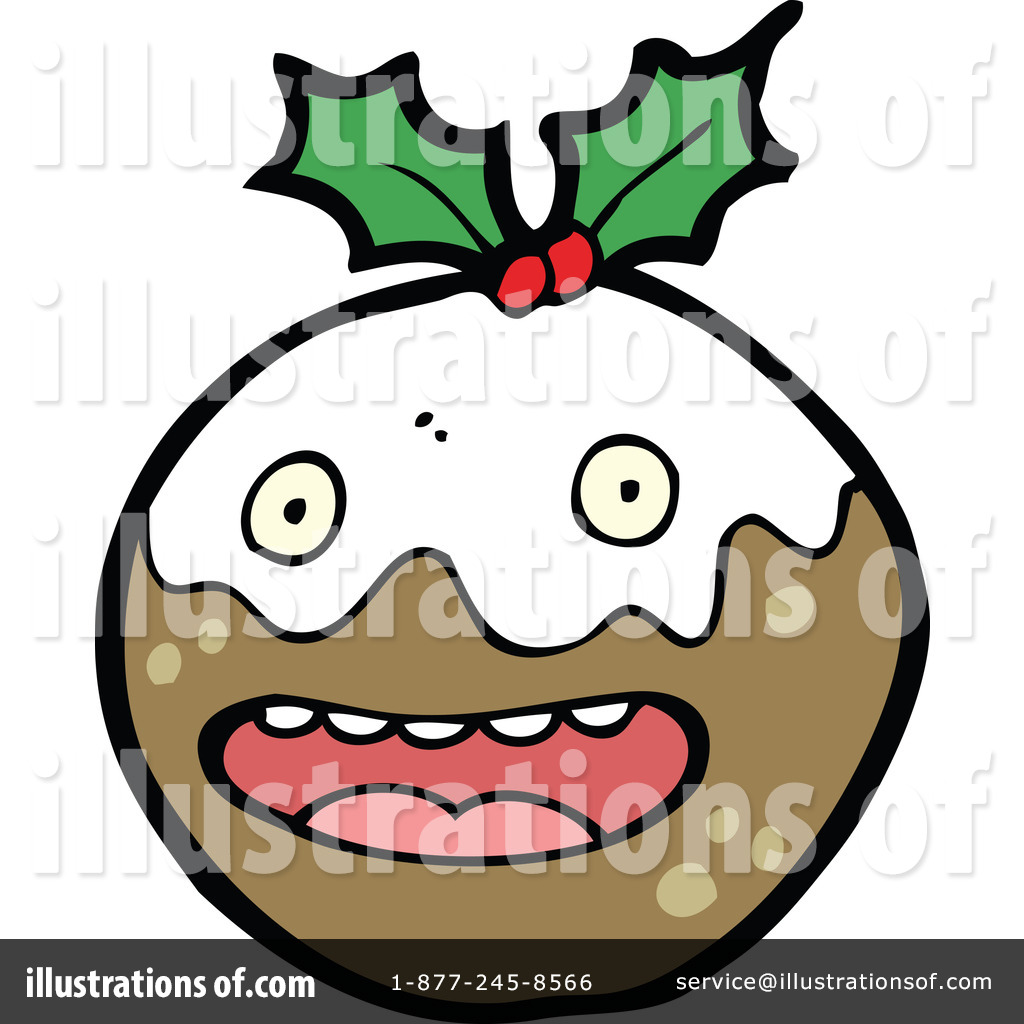 Royalty Free  Rf  Christmas Pudding Clipart Illustration  1117499 By