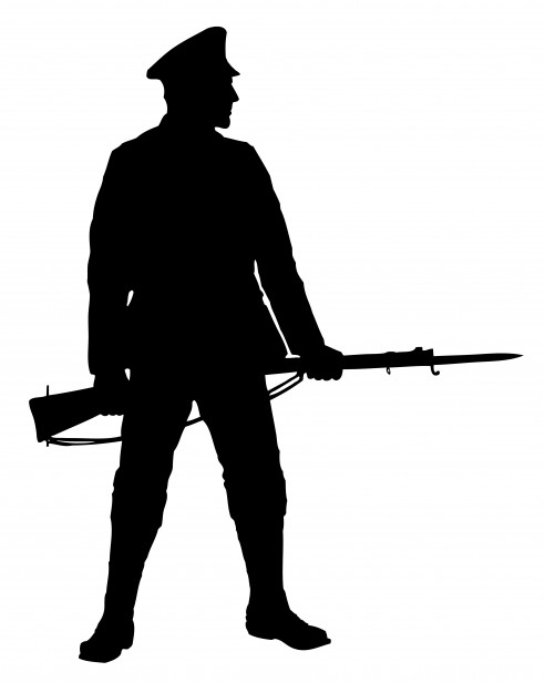 Soldier With Rifle Clipart Free Stock Photo   Public Domain Pictures