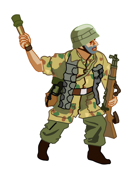 Soldier Clipart - Clipart Kid