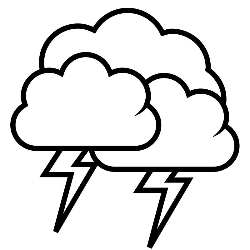 Thunder Clipart Storm Clipart 1277950229 Png