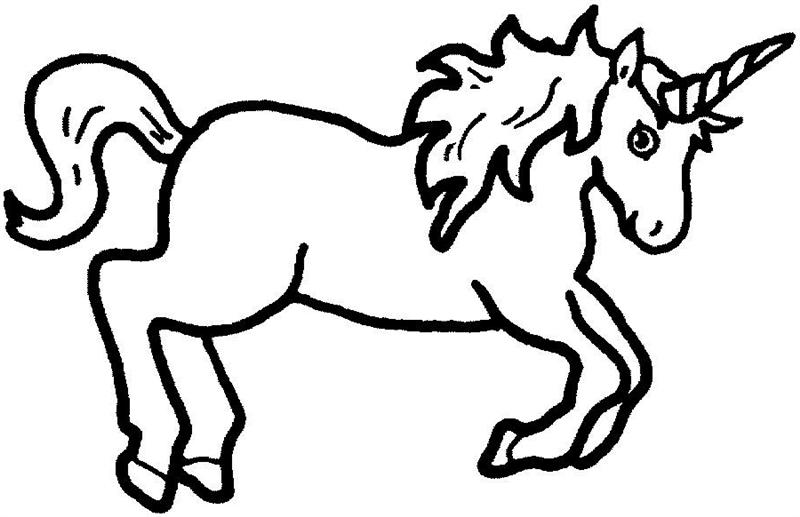 unicorn clipart black and white - photo #39