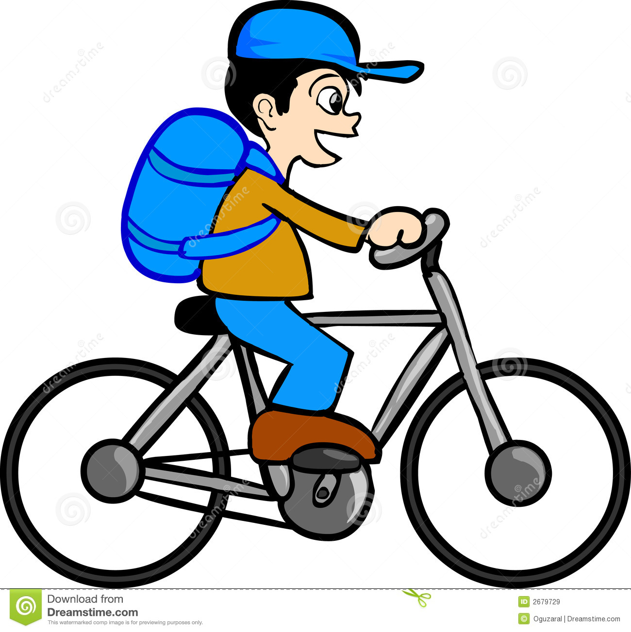 Funny Cycling Clipart - Clipart Kid