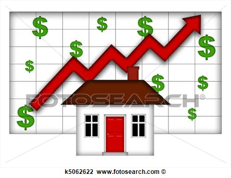 Clip Art Of Real Estate Home Values Going Up K5062622   Search Clipart