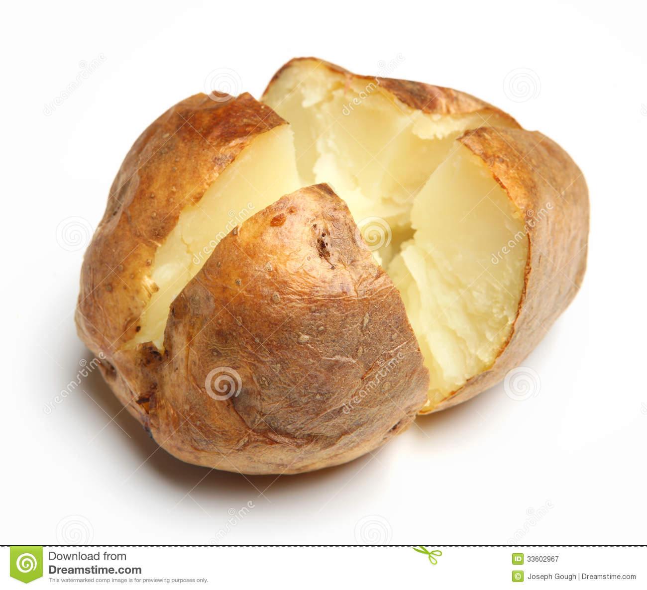 Clipart baked potato plain jacket potato royalty