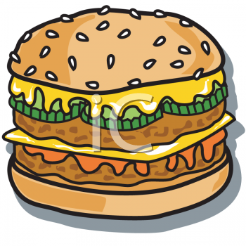 Food Clipart Picture Of A Double Meat Chicken Patty Sandwich