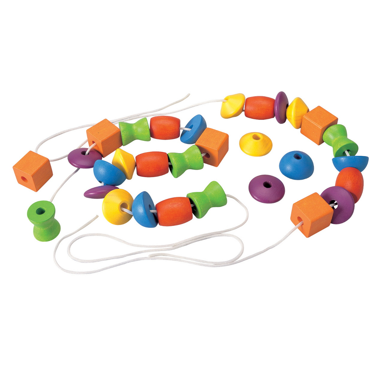 Lacing Beads Wooden Educational Toy
