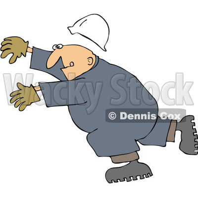 Person Slipping And Falling Clip Art
