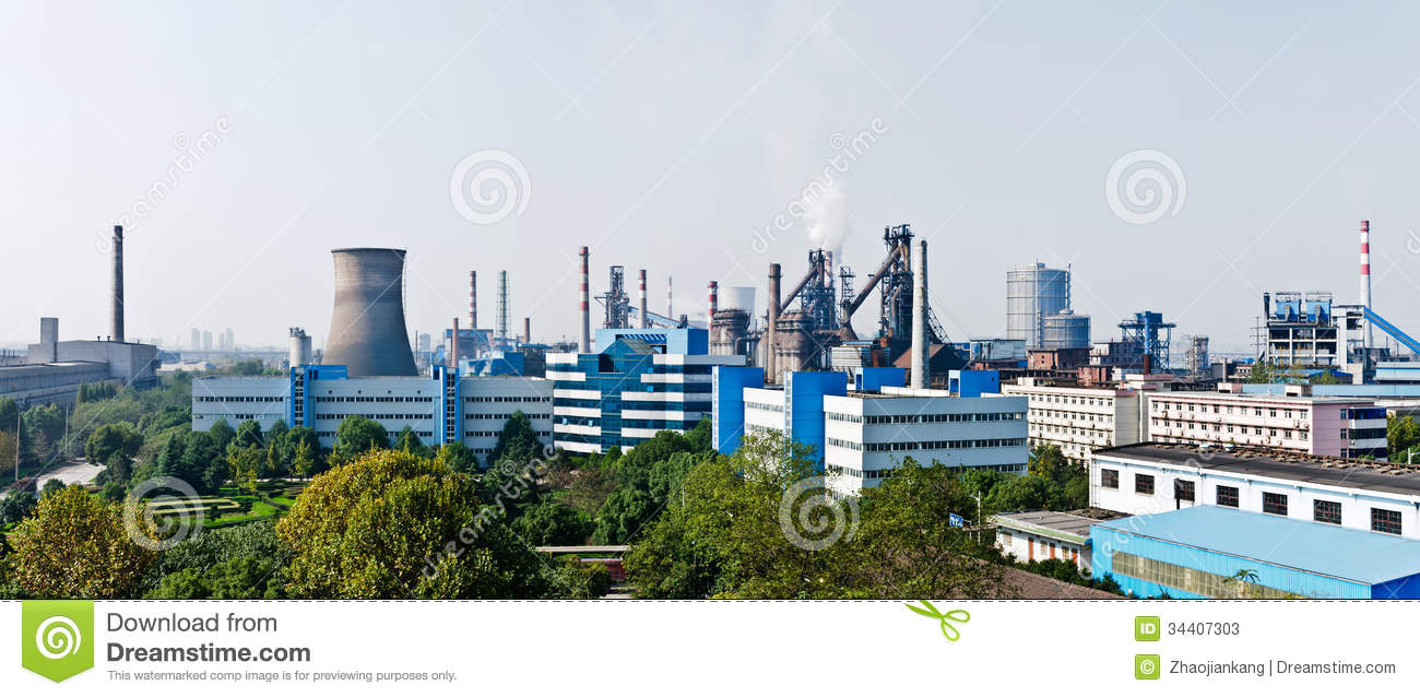 Chinese Steel Mills Stock Photos   Image  34407303