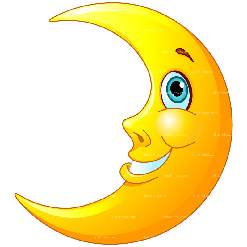 Smiling Moon Clipart - Clipart Suggest