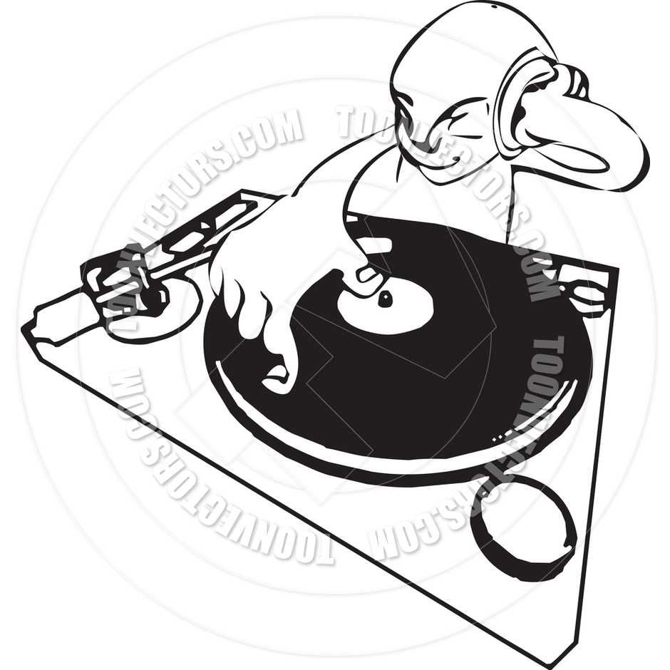 Funky Dj Illustration By Geoimages   Toon Vectors Eps  32563