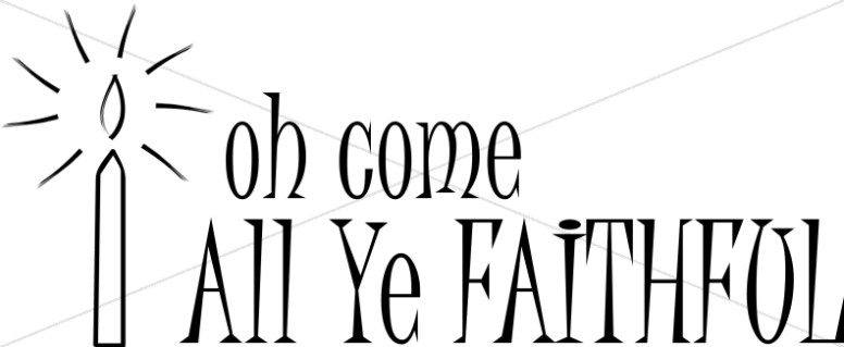 Go Tell It On The Mountain Clip Art Oh Come All Ye Faithful Candle