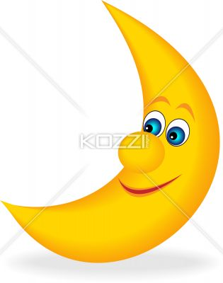 Illustration Of A Smiling Moon    Royalty Free Image Id 24729537