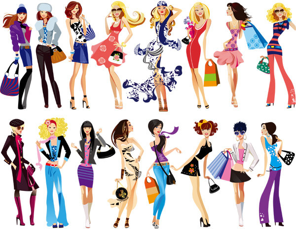 Instant Download Fashion Lady Clip Art Fashion By Onestopdigital