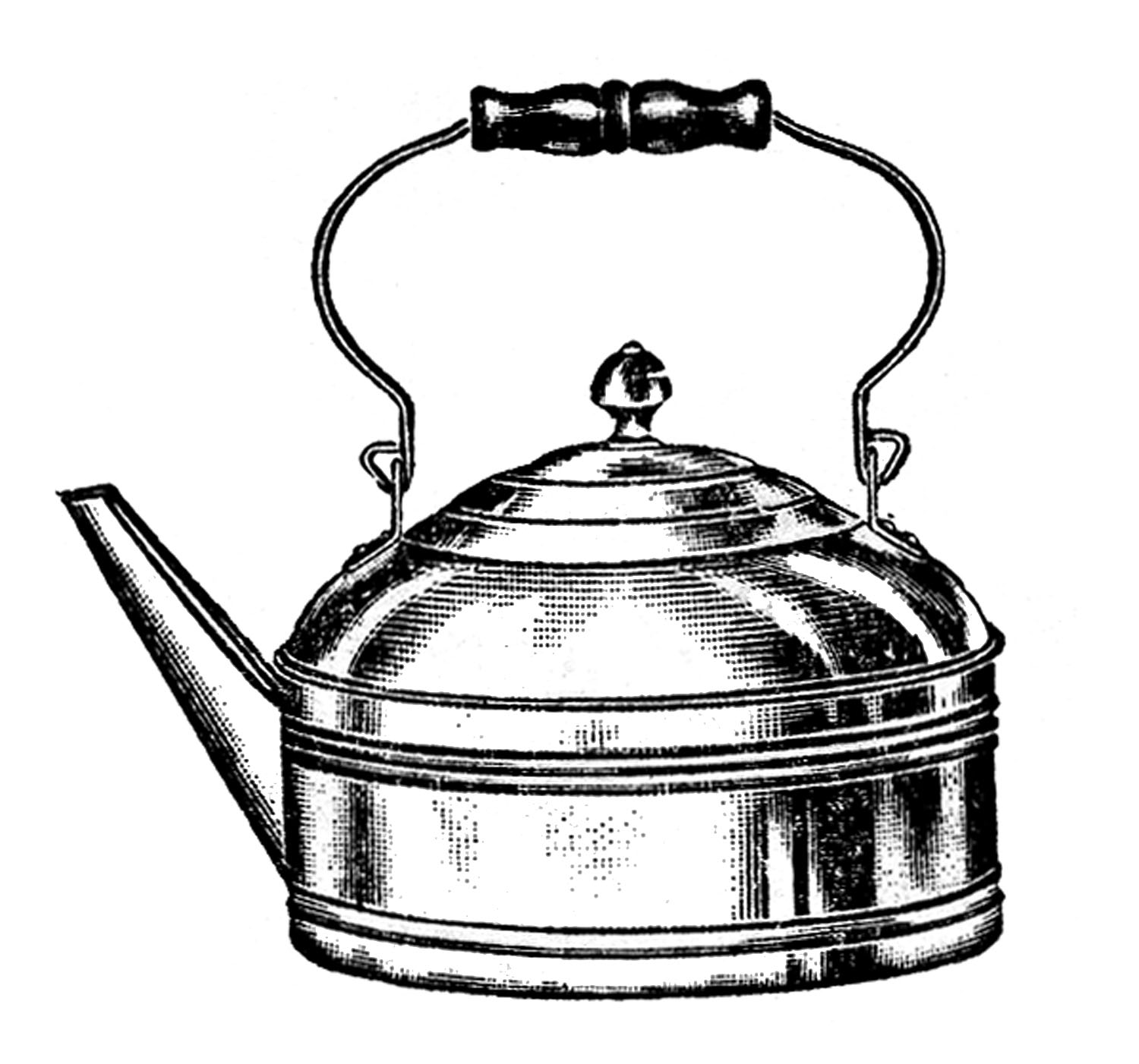 Kitchen Clip Art   Tea Kettle And Coffee Pots   The Graphics Fairy