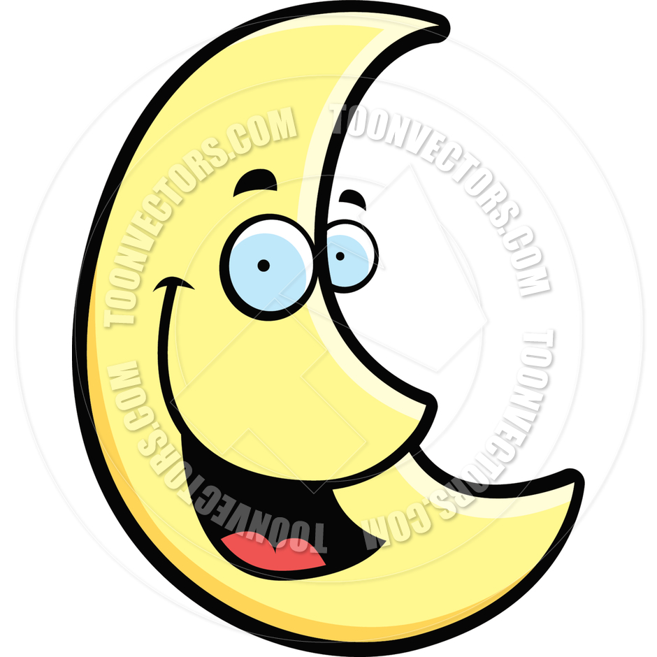 Moon Smiling By Cory Thoman   Toon Vectors Eps  842