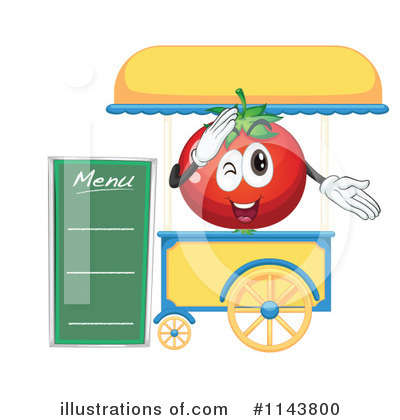 Royalty Free  Rf  Food Stand Clipart Illustration By Colematt   Stock