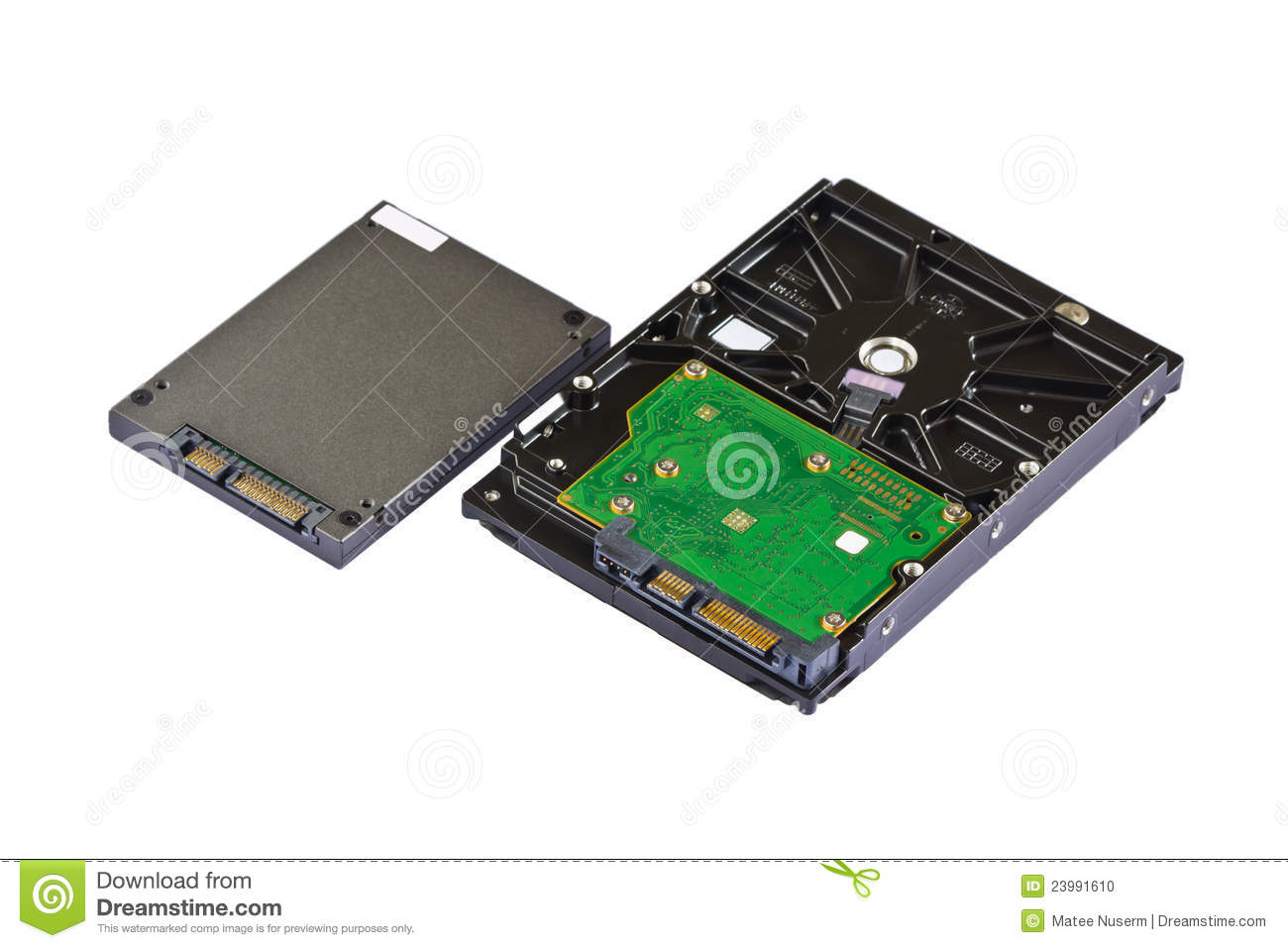 Solid State Drive  Ssd  And Hard Disk Drive  Hdd  Stock Photo   Image