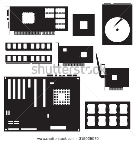 Solid State Drive Stock Vectors   Vector Art