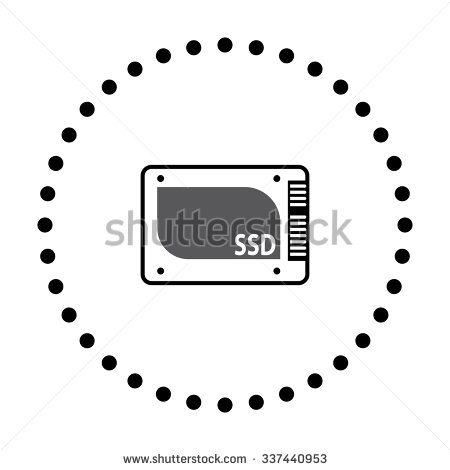 Vector Illustration Of Modern Icon Ssd   Stock Vector