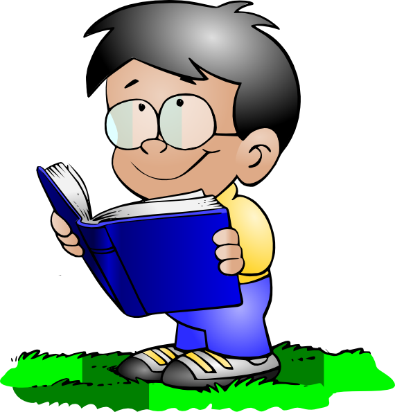 Boy Reading Clip Art At Clker Com   Vector Clip Art Online Royalty