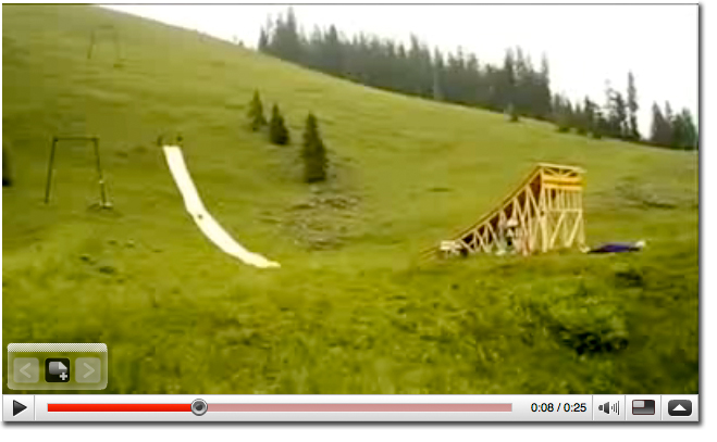 Can A Guy Slide Down A 400 Foot Slip N Slide Ramp And Land In A Kiddie