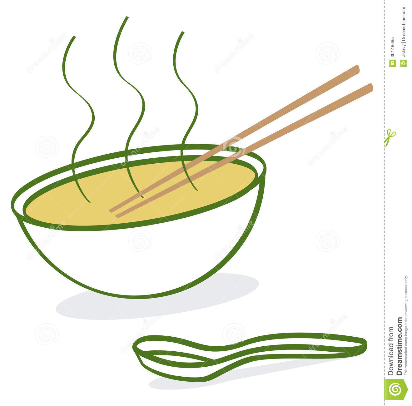 Cartoon Depiction Of Hot Vietnamese Pho Soup